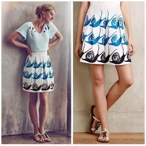 Maeve Swirled Snail animal print Skirt